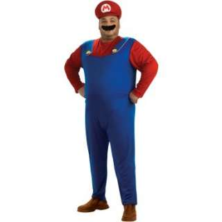 Super Mario Bros.   Mario Adult Plus Costume, 69260