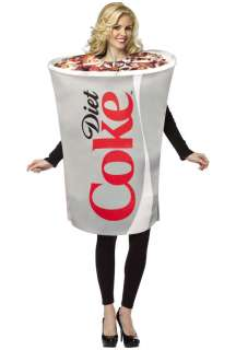 Coca Cola Diet Coke Cup Adult Costume for Halloween   Pure Costumes