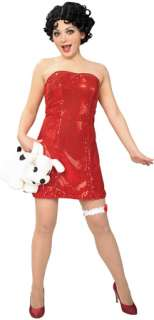 Betty Boop Teen Dress And Wig (Adult Costume)