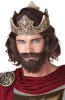 Medieval King Costume Wig (Brown) listed price $20.95 Our Price: $16