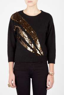 Marc by Marc Jacobs  Black Quad Sequin Sweater by Marc By Marc Jacobs
