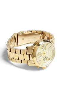 Gold Chronograph Watch by Michael Kors Watches. Buy Watches Online at