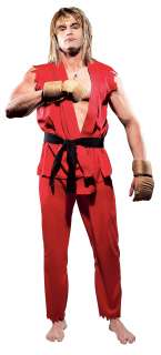 Street Fighter Ken Adult Costume   Includes Pants, shirt, belt, and