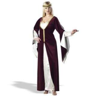 Regal Princess Burgundy Plus Adult Costume   Includes a burgundy