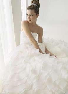 Charming Custom made Layers Wedding Dress Bridal Gown Chapel Train