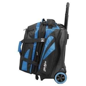 KR Crossfire Double Roller Bowling Bag  Blue