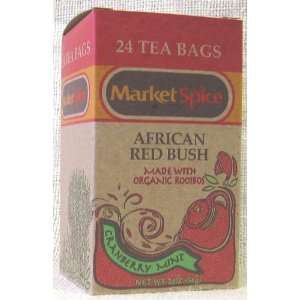 Cranberry Mint African Red Bush Teabags: Grocery & Gourmet Food