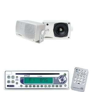 Pyle Marine Radio Receiver and Speaker Package   PLCD9MR AM/FM