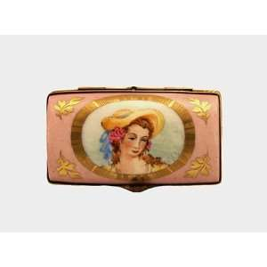 Vintage Style Lady Portrait French Limoges Box