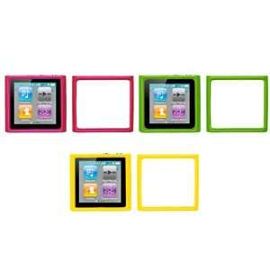 Cases (Hot Pink, Neon Green, Yellow) for Apple iPod Nano 6th Gen Cell