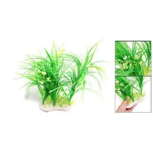Como Green Plastic Orchid Grass Fish Tank Aquarium Plants