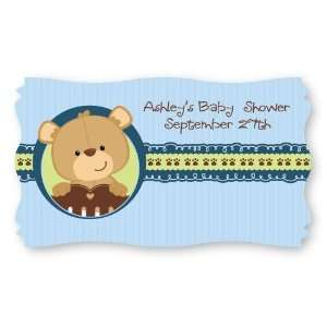 Baby Boy Teddy Bear   Set of 8 Personalized Baby Shower Name