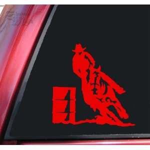 Barrel Racer Racing Rodeo Vinyl Decal Sticker   Red