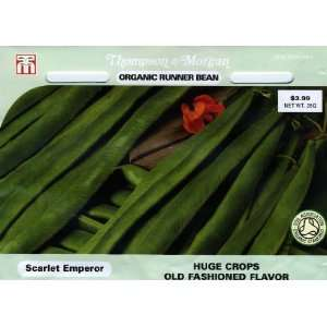 & Morgan 4742 Organic Bean Runner Scarlet Emperor Double Seed Packet
