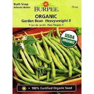 Burpee Organic Heavyweight II Bean Seeds   21 g Patio