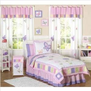 76 Butterfly Pink Purple Full / Queen Bedding Set