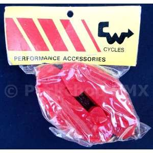 NOS CW Grinder VP 806 old school BMX bicycle pedal caps   RED