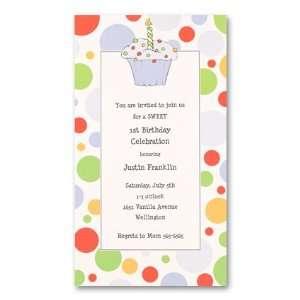 Uptown 1st Cupcake Boy Birthday Invitation Toys & Games