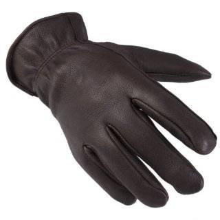 Black Leather Mens 3m Thinsulate Gloves W/ Zipper Closure