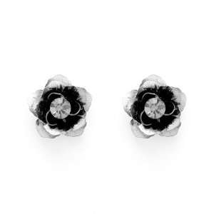 Perfect Gift   High Quality Black Flower Earrings with