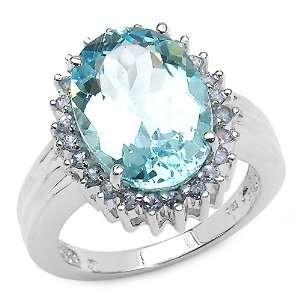00 Carat Genuine Blue Topaz & Tanzanite Sterling Silver Ring Jewelry