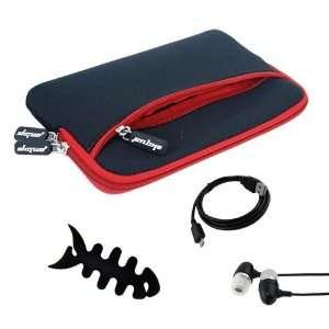 Premium Glove Series Case(Black with Red Trim) + Black