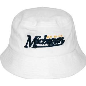 Michigan Wolverines White Bucket Hat