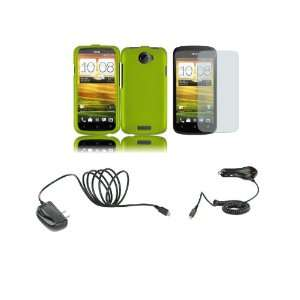 Mobile) Premium Combo Pack   Neon Green Hard Shield Case Cover