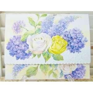 Carol Wilson Roses, Hydrangeas, Lilacs Blank Note Card Set 10 ct