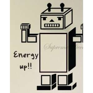 Made in US   Free Custom Color   Energy up    robot cheer