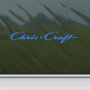 Chris Craft Blue Decal Boat Car Truck Bumper Window Blue
