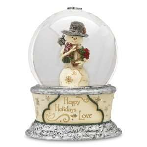 Snowman Musical Waterglobe, Plays Tune We Wish You a Merry Christmas