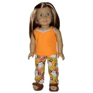 Flower Pajamas. Doll Clothes Fit 18 American Girl Dolls Toys & Games