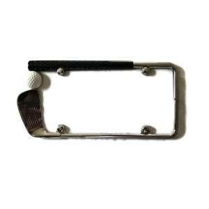 Golf Club Chrome Painted High Quality License Plate Frame Metal Frame