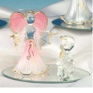 Collectible Praying Child Pink Guardian Angel Figure Figurine