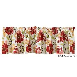 Park Designs Poppy Country Cottage Valance Curtain
