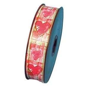 Pams Valentines Day Balloons  Hearts & Checks Ribbon