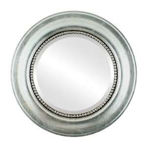 Heritage Circle in Silver Leaf with Brown Antique Mirror