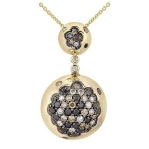 14K Yellow Gold Diamond Necklace Jewelry