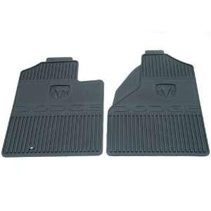 OEM Dodge Ram Slush Style Floor Mats   In Dark Slate with Ram & Dodge