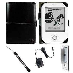 Black Carrying Cover Case Slim Design for BeBook Neo White eReader