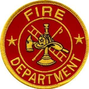 Round Red Fire Dept Logo: Arts, Crafts & Sewing