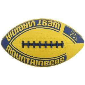 Virginia Mountaineers Youth Gold Navy Blue Hail Mary Rubber Football