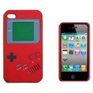 Red Nintendo Game Boy Gameboy Style Silicone Case Cover for Verizon AT