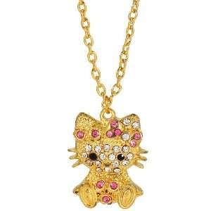 chained Hello Kitty pendant necklace   gold Arts, Crafts & Sewing