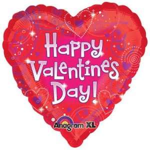 Happy Valentines Day Love Crazy 18in Balloon Toys & Games