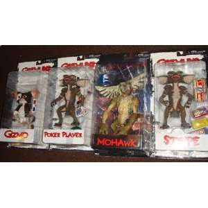 NECA GREMLINS MOVIE   GIZMO   POKER PLAYER   MOHAWK   STRIPE   SET of