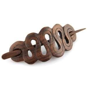 Sono Wood Inverted Loop Drop Hair Pin Barrette