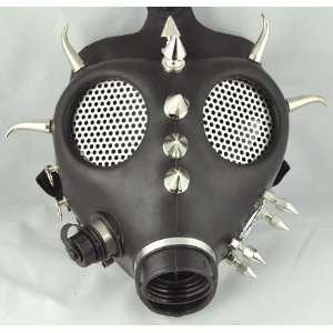 Fat Horn Spike Gas Mask Industrial Rave Halloween Dance