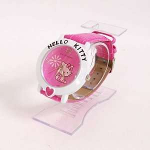 Hello Kitty Heart Wrist Watch Wristwatch Band Rose Sports